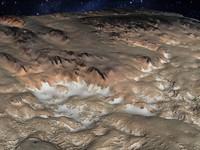 Alien terrain martian mountains