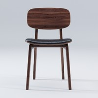 NY11 Dining Chair Walnut Leather