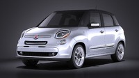 Fiat 500l US Version 2014 VRAY