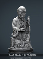 Old Chinese figure statue