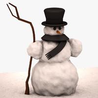 Snowman Lowpoly