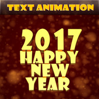 Happy New Year Text Animation