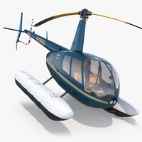 Helicopter Robinson R44 With Floats