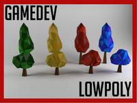 set tree lowpoly