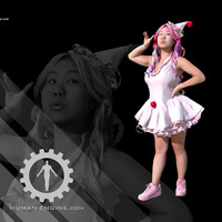 Female Scan - Lily Pink Clown Costume