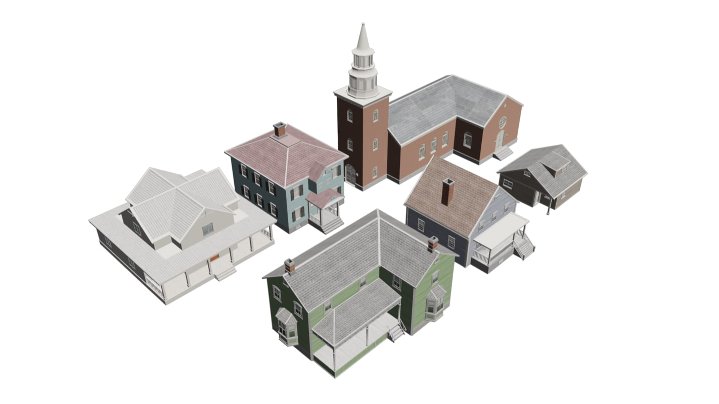 HQ low poly houses and church.png