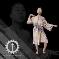 Female Scan - Lily Kimono Costume