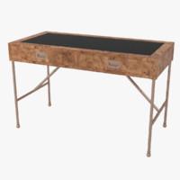 Vintage Burlwood Desk by Mastercraft(1)