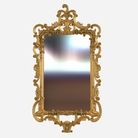 George III rectangular mirror in rococo style by colefax