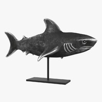 Shark figurine on stand
