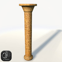 Ancient column low poly