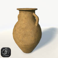 Ancient vase 3 low poly