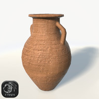 Ancient vase 4 low poly