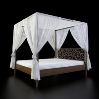 Perugia King knot canopy bed