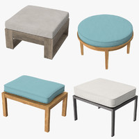 Outdoor Ottomans Collection