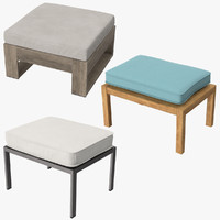 Outdoor Ottomans Square Collection