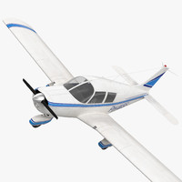 3d civil utility aircraft piper model