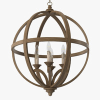 Currey and Company - Axel orb chandelier