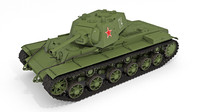 Soviet tank KV-1 Kliment Voroshilov (model 1942)