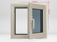 Plastic casement window_01