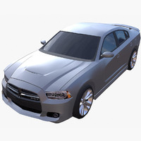 2012 dodge charger srt8 3d model