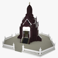 Low poly Church in Ang-Thong