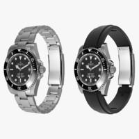 Rolex Submariner Date Steel and Oysterflex Strap