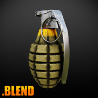 MK2 Grenade - Blender3D