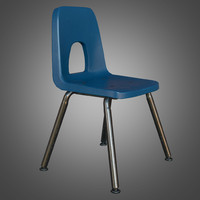 Student School Chair - PBR Game Ready