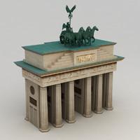 Brandenburg gate lowpoly