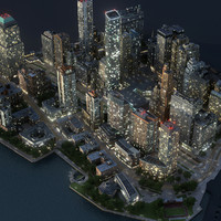 Manhattan Lower Night Part01 Low Poly