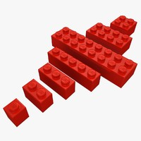 Lego Bricks Set (Low Poly)