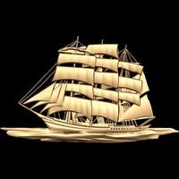 (333) Panno Ship -3d STL model for CNC