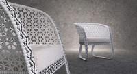 Wicker lounge arm chair