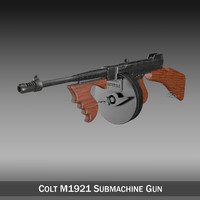 colt thompson submachine gun 3ds