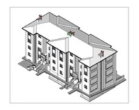 Revit Building Model and Max Model