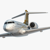 Bombardier Global 6000 Rigged