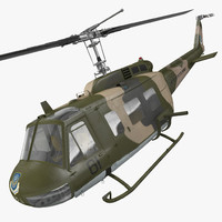 Bell UH-1 Iroquois Camo Rigged