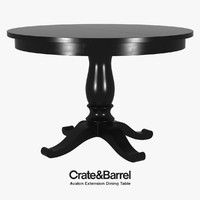 Crate & Barrel - Avalon Extension Dining Table