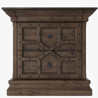 "17TH C. CASTELL 32"" CLOSED NIGHTSTAND"