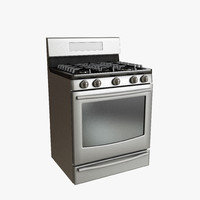 Gas Range Low Poly