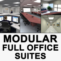 3d model office building modular suite