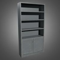 Old Wooden Bookshelf - PBR Game Ready