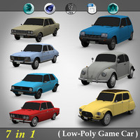 7 in 1 ( Low-Poly Game Car )