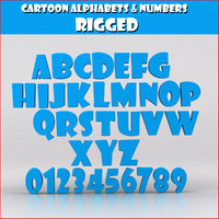 Cartoon Alphabets Numbers