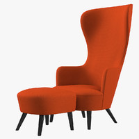 Tom Dixon Wingback Chair & Footstool