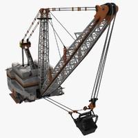 3ds max dragline excavator