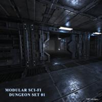 NH7 Modular SciFi Dungeon Set