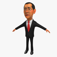 3D Character Obama