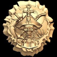 (379) Pirate -3d STL model for CNC